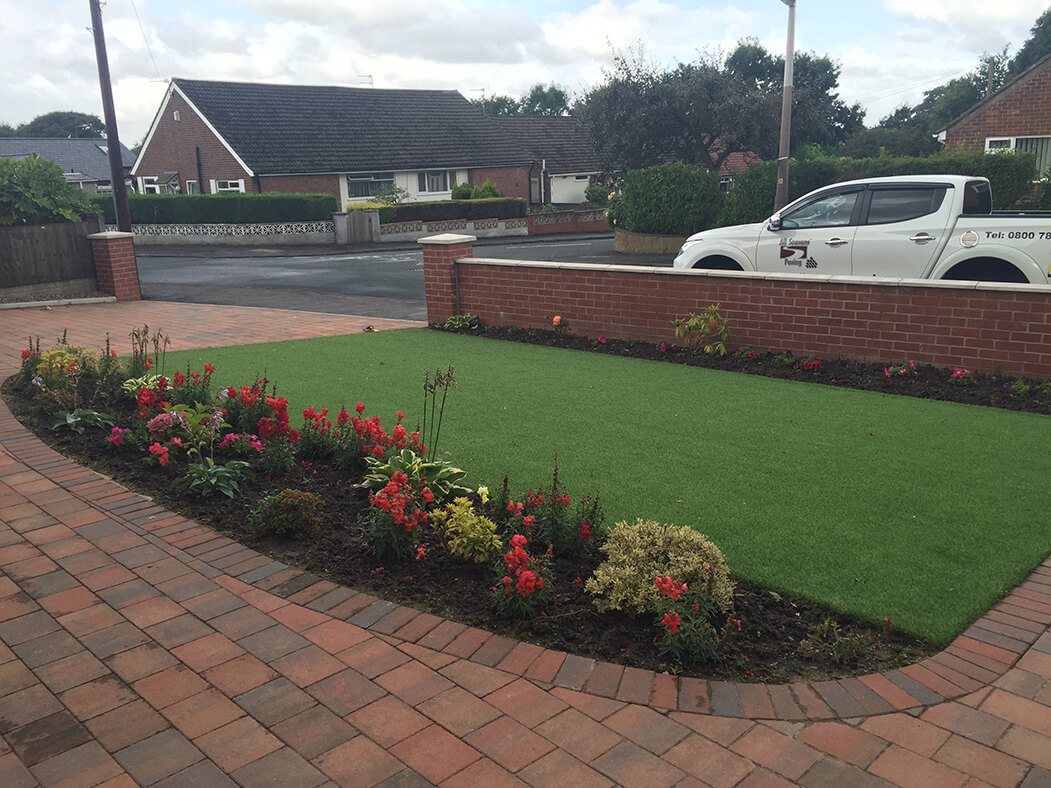 street view of artificial lawn done in lancaster