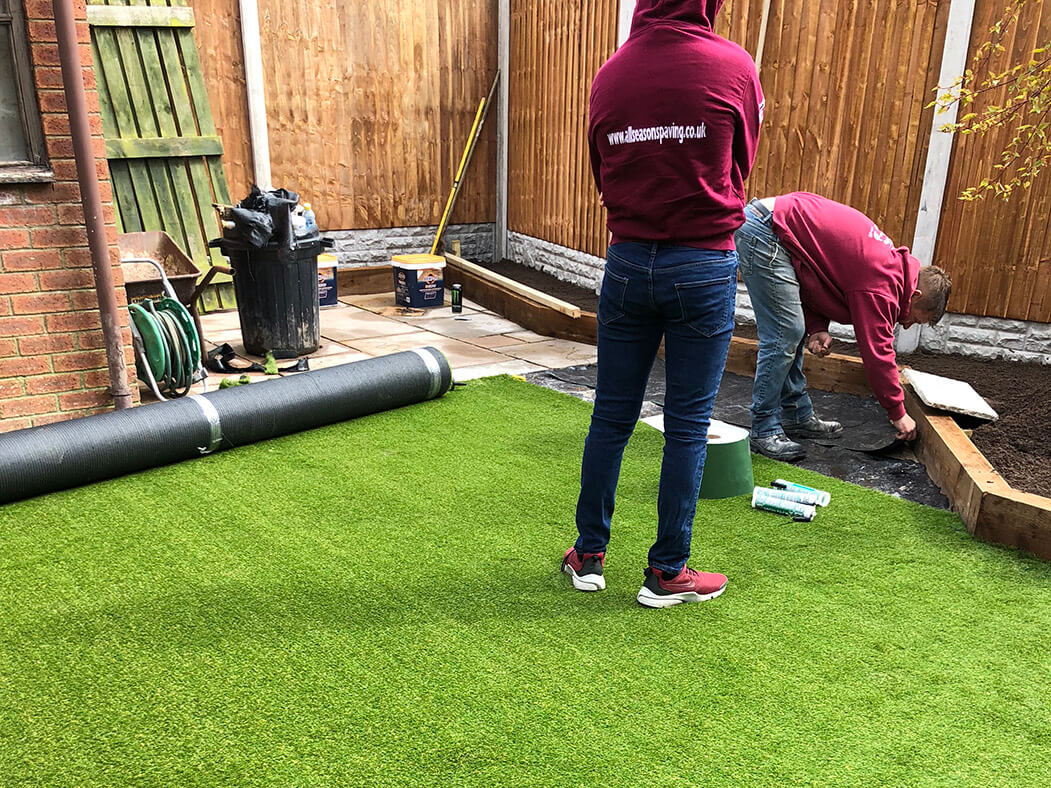 artificial lawn landscaping in lancashire