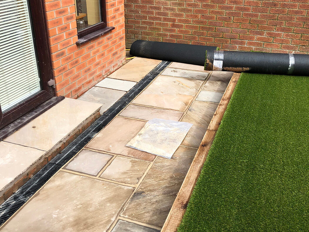 artificial lawn and landscaping done in lancashire
