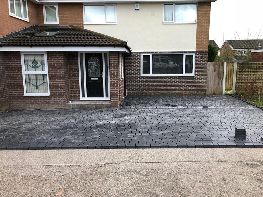 block paving driveway basalt riven lancashire