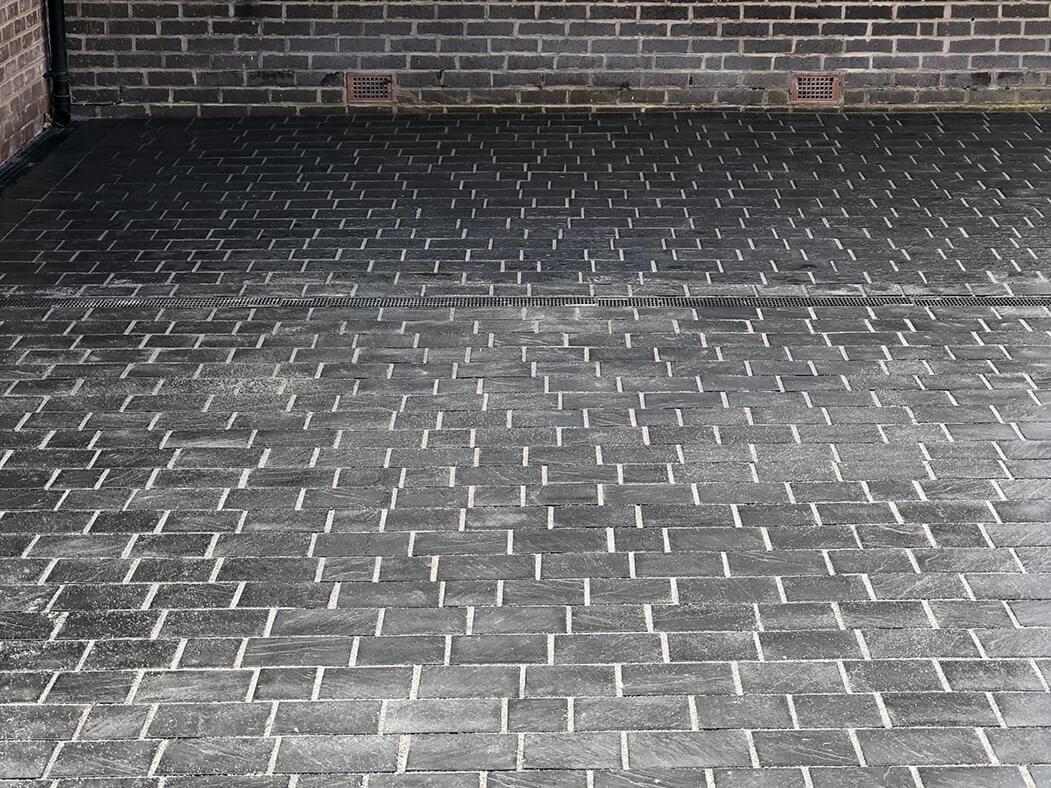 Finished block paving of Lancashire driveway
