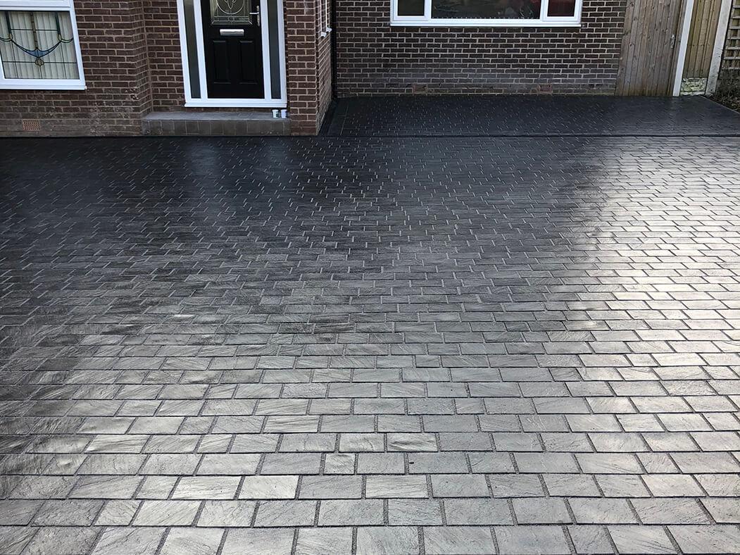 Full shot of block paving on Lancashire driveway