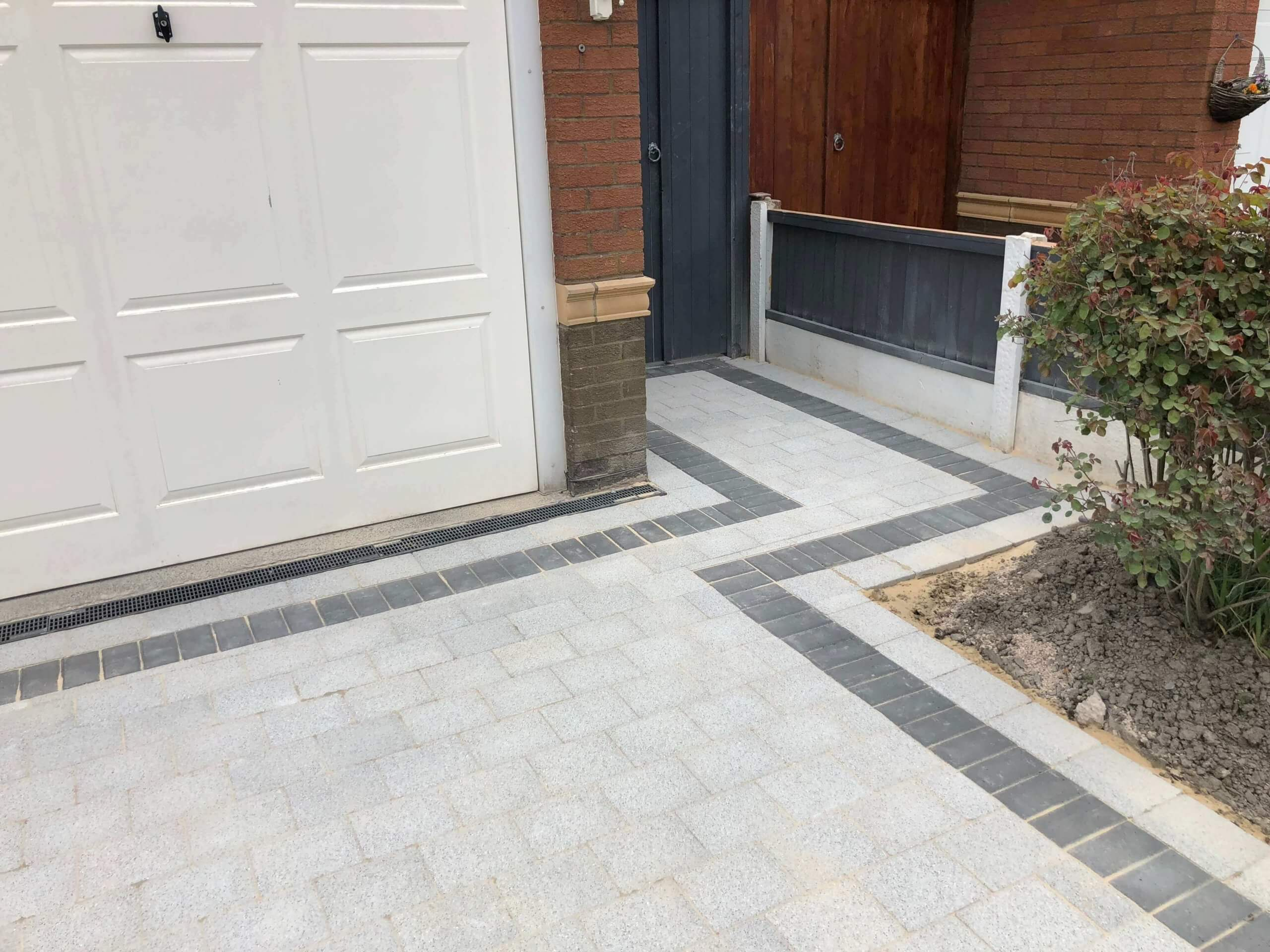 Close Up of Block Paving Driveway Sienna Silver in Lancaster, Lancashire