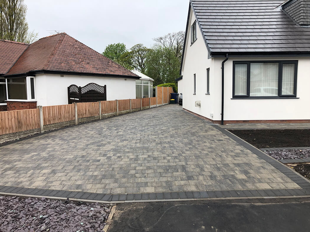 View of Shannon Slate driveway in Morecambe