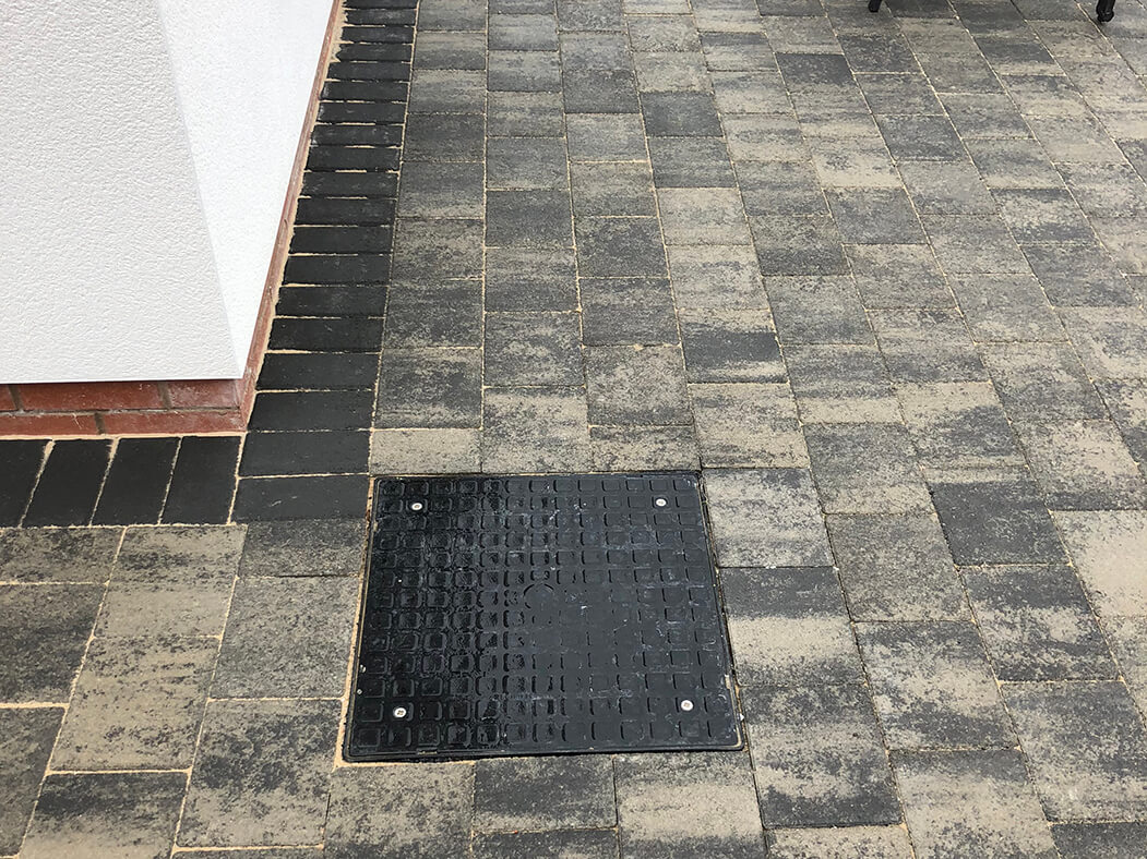 Close up of Block Paving Driveway Shannon Slate in Morecambe, Lancashire