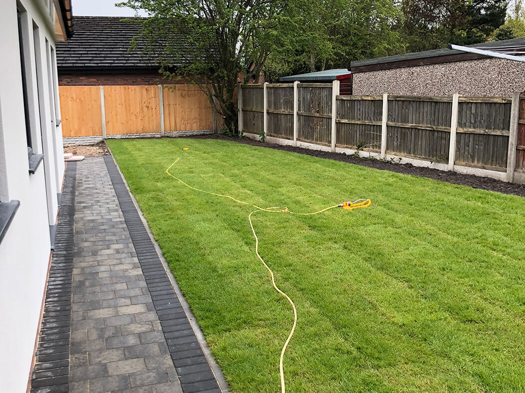 Grass with Block Paving Driveway in Morecambe, Lancashire