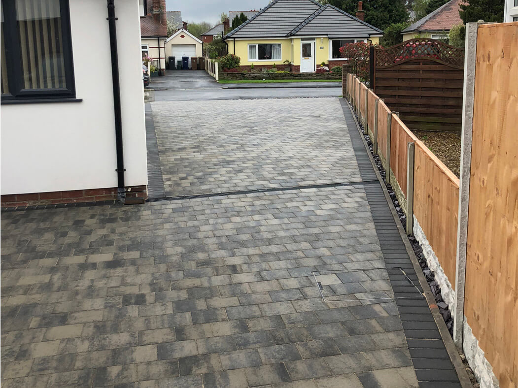 View of Block Paving Driveway leading to the front in Morecambe, Lancashire