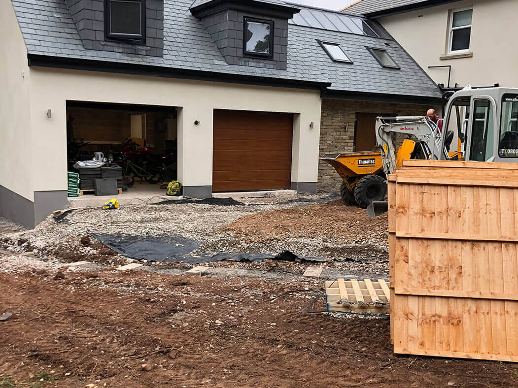 Driveway being prepped for Block Paving in Indian Sandstone, Lancaster, Lancashire