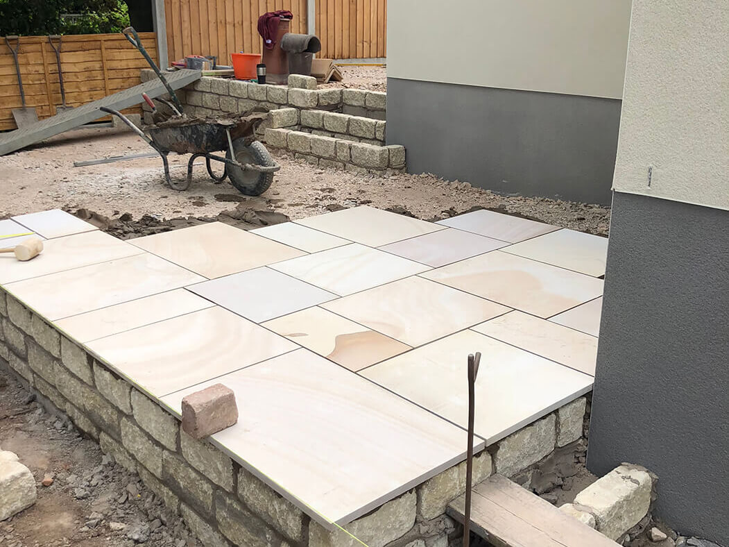 Process of Indian Sandstone Block Paving Driveway in Lancaster, Lancashire