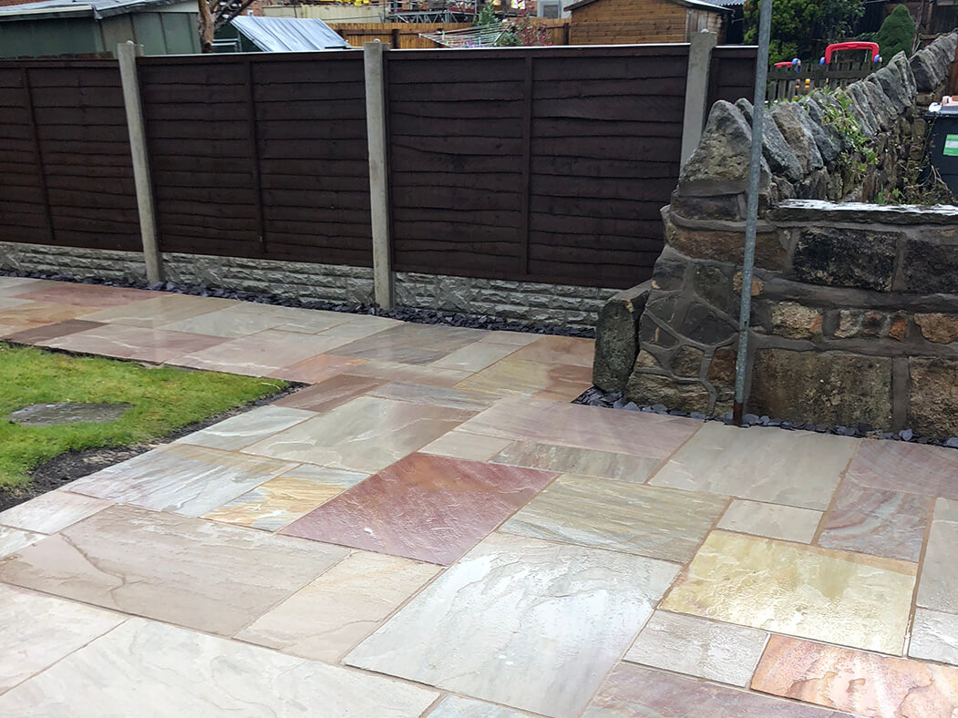 bradstone indian sandstone patio in lancaster