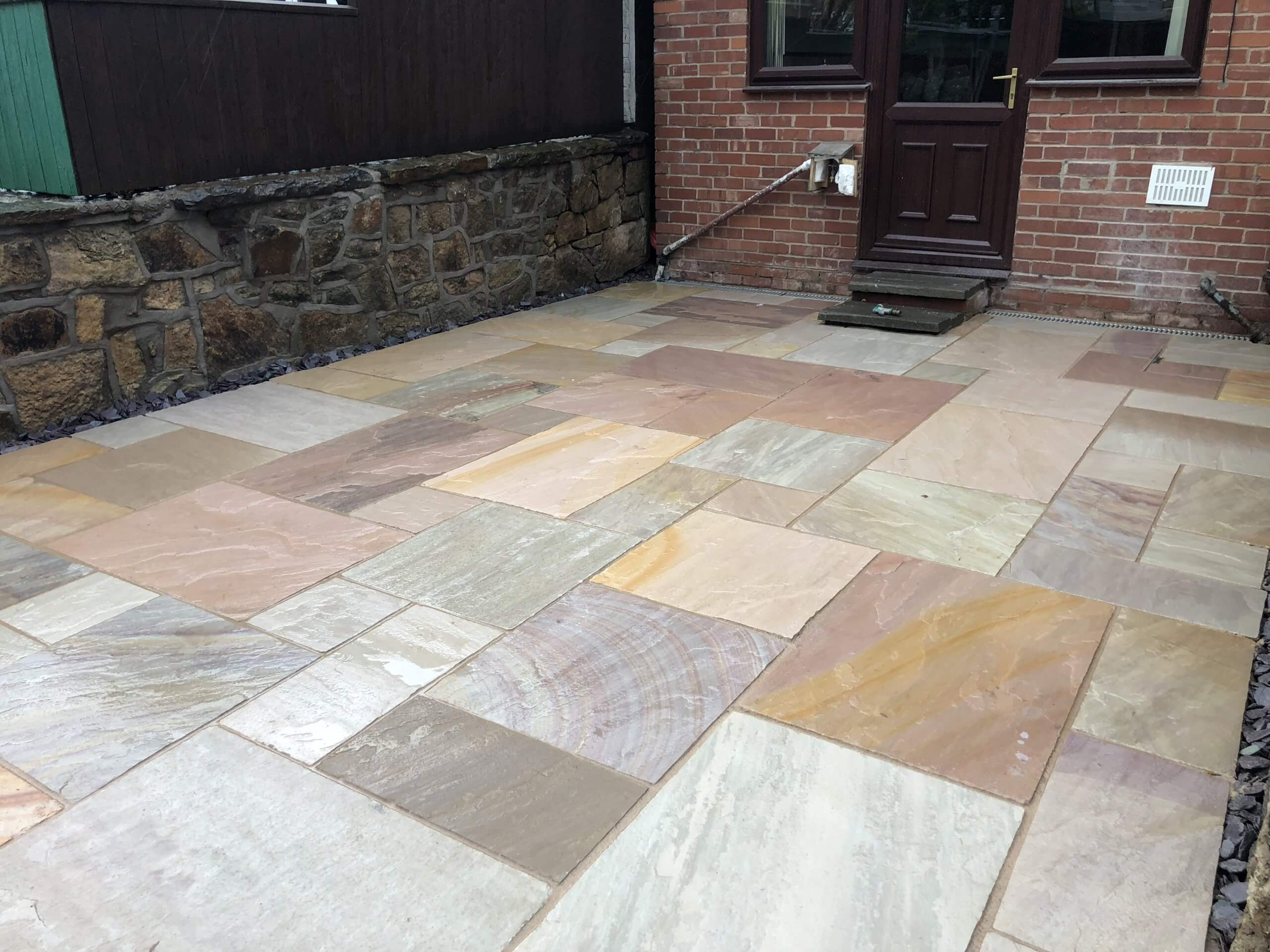 indian sandstone patio in lancaster