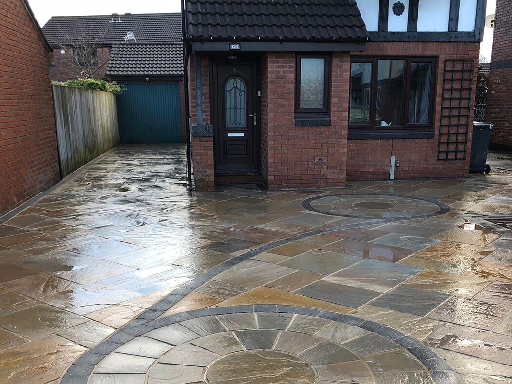 indian stone flagged driveway lancashire