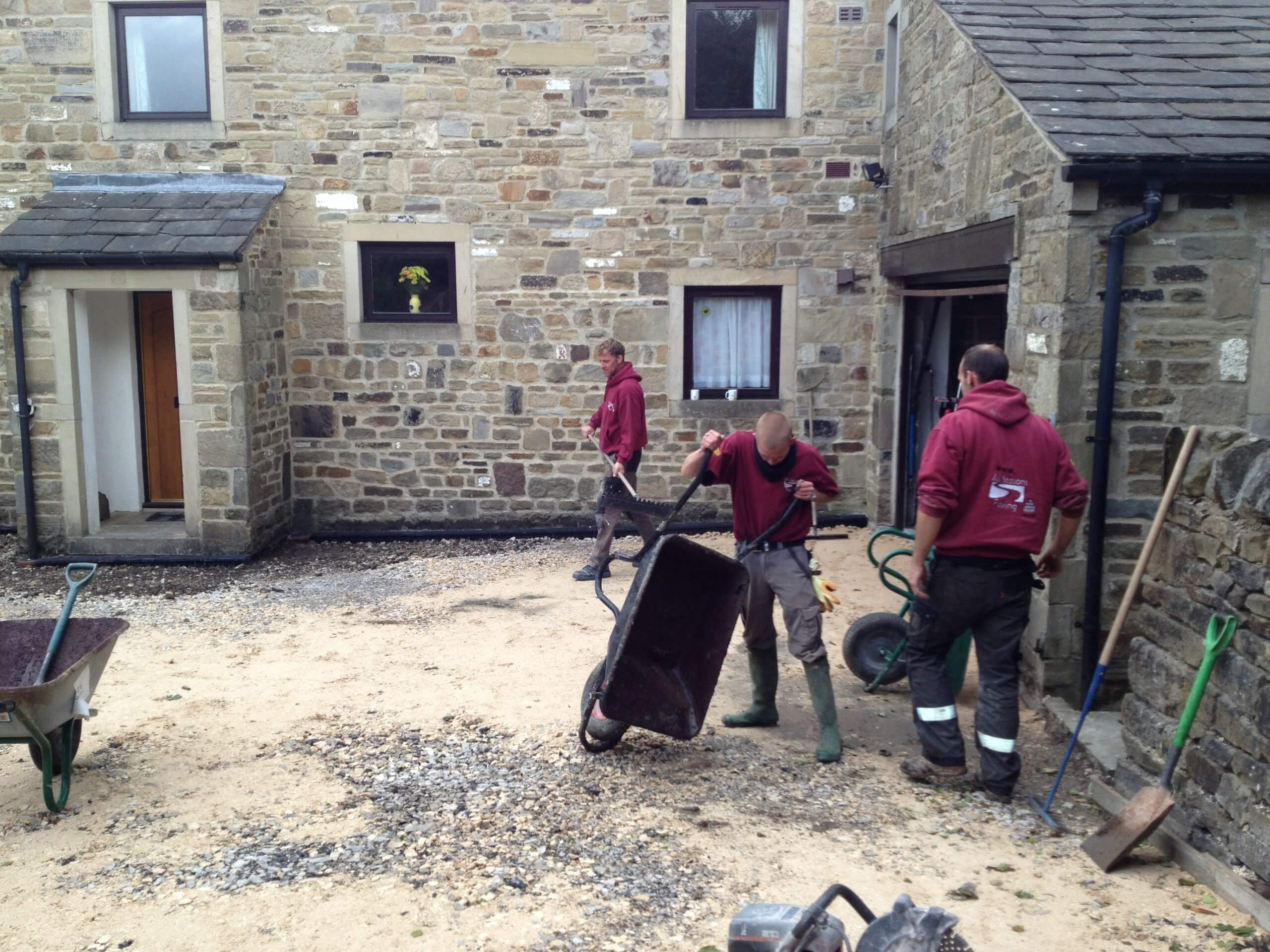 prepping driveway for pattern imprinted concrete near lancashire