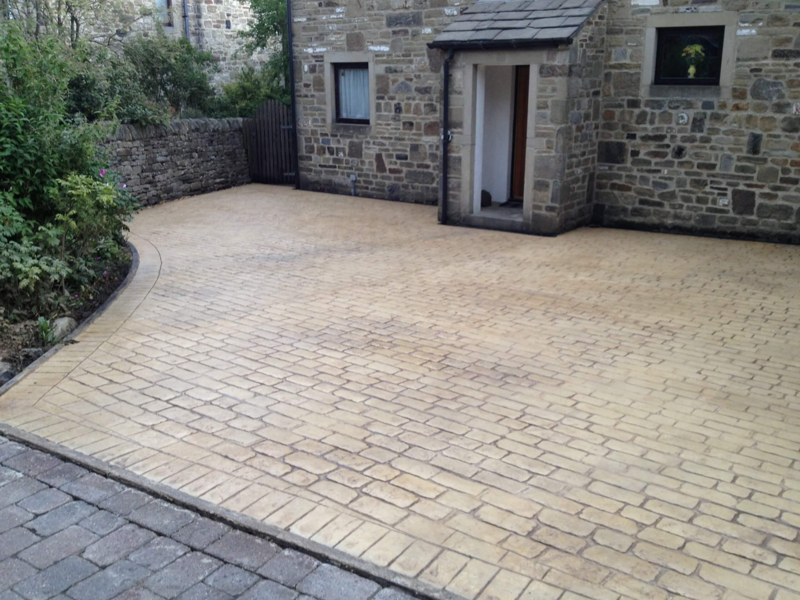 pattern imprinted driveway near Lancashire