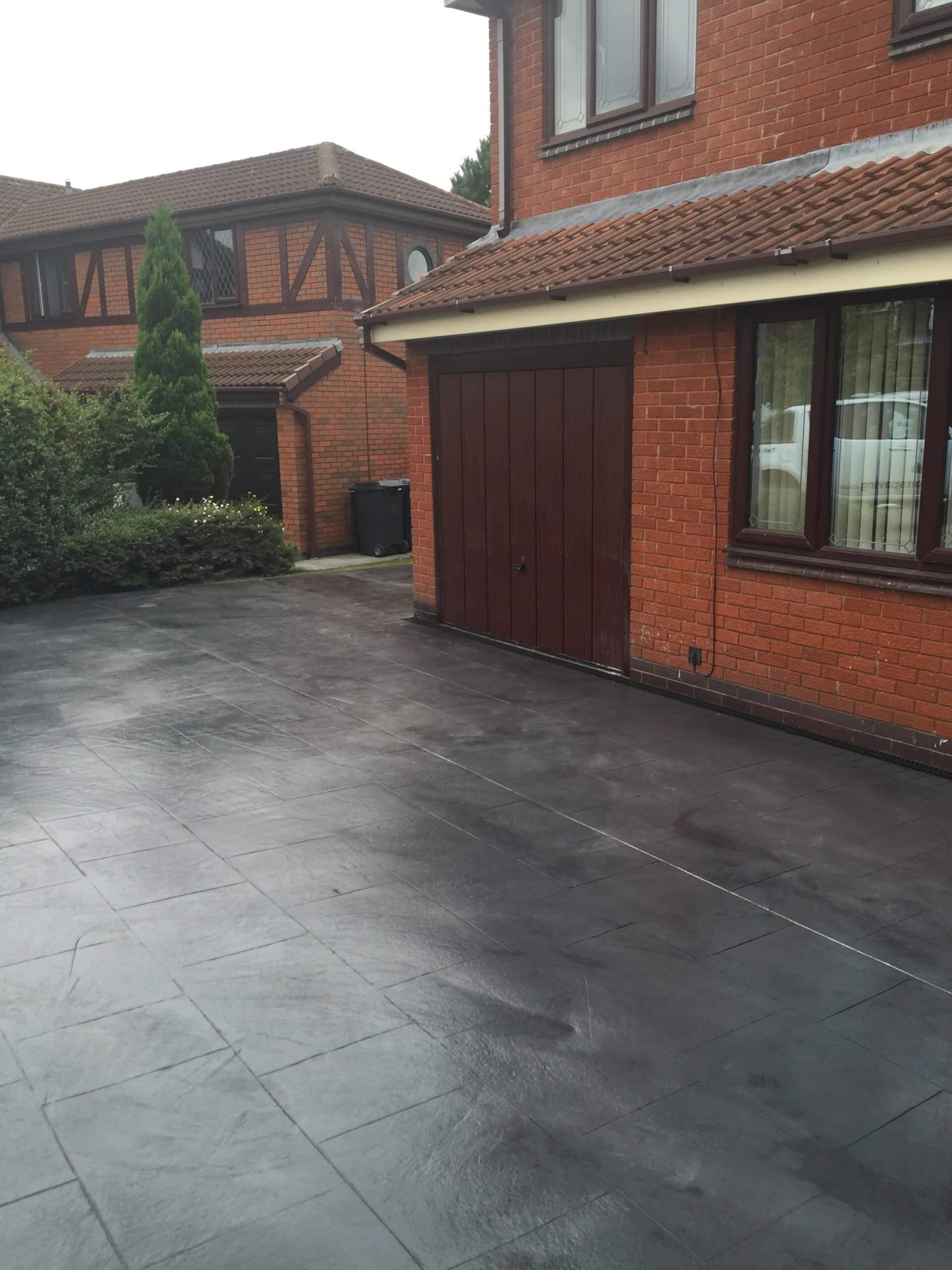 pattern concrete drive Lancashire