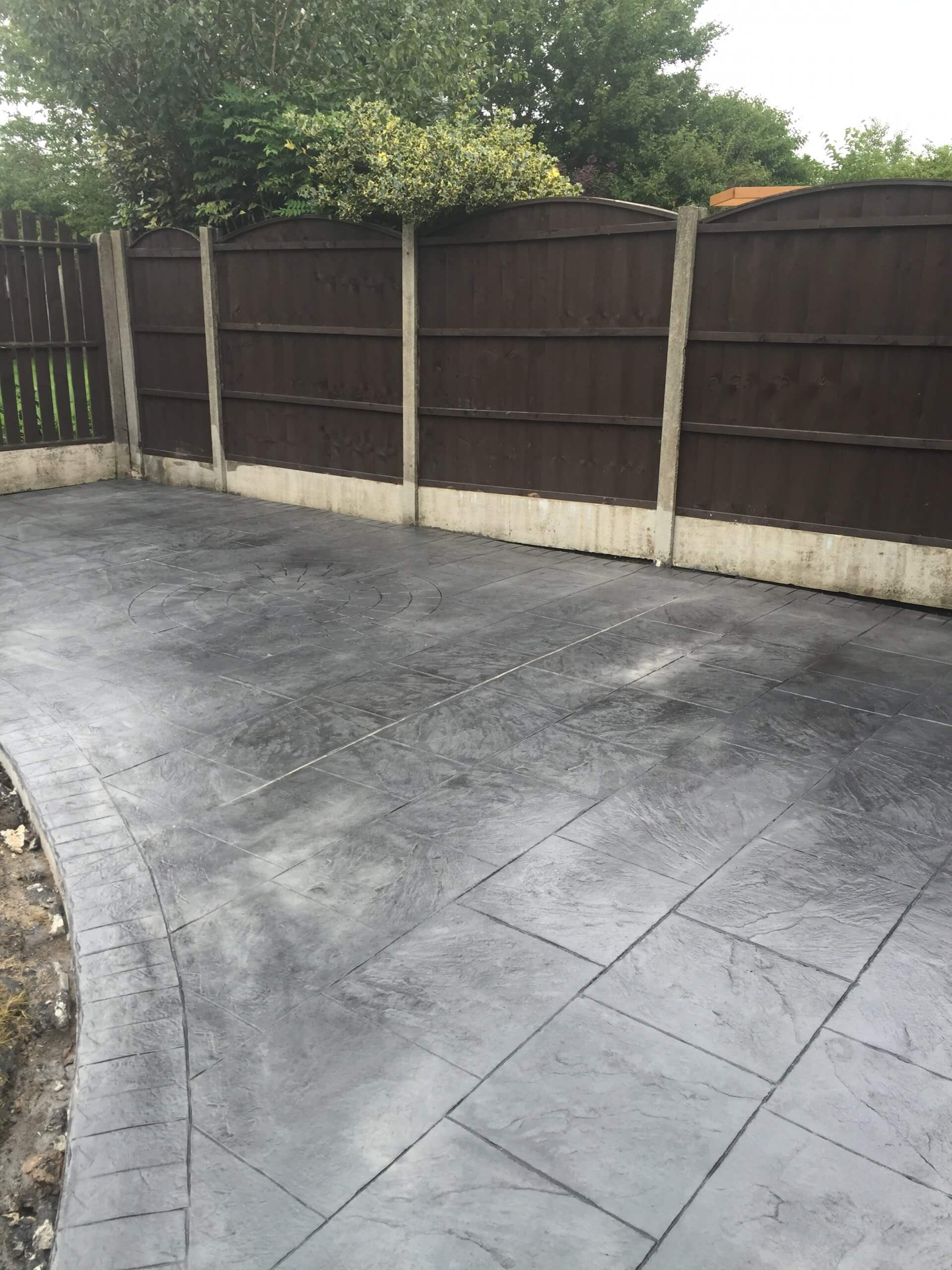 photo of pattern imprinted concrete on driveway & patio in Lancashire