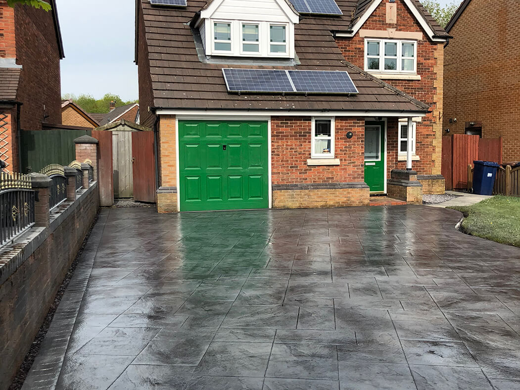 Finished process of Pattern Imprinted Concrete Driveway Morecambe