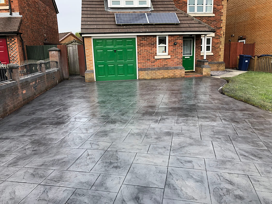 Pattern Imprinted Concrete Driveway in Morecambe