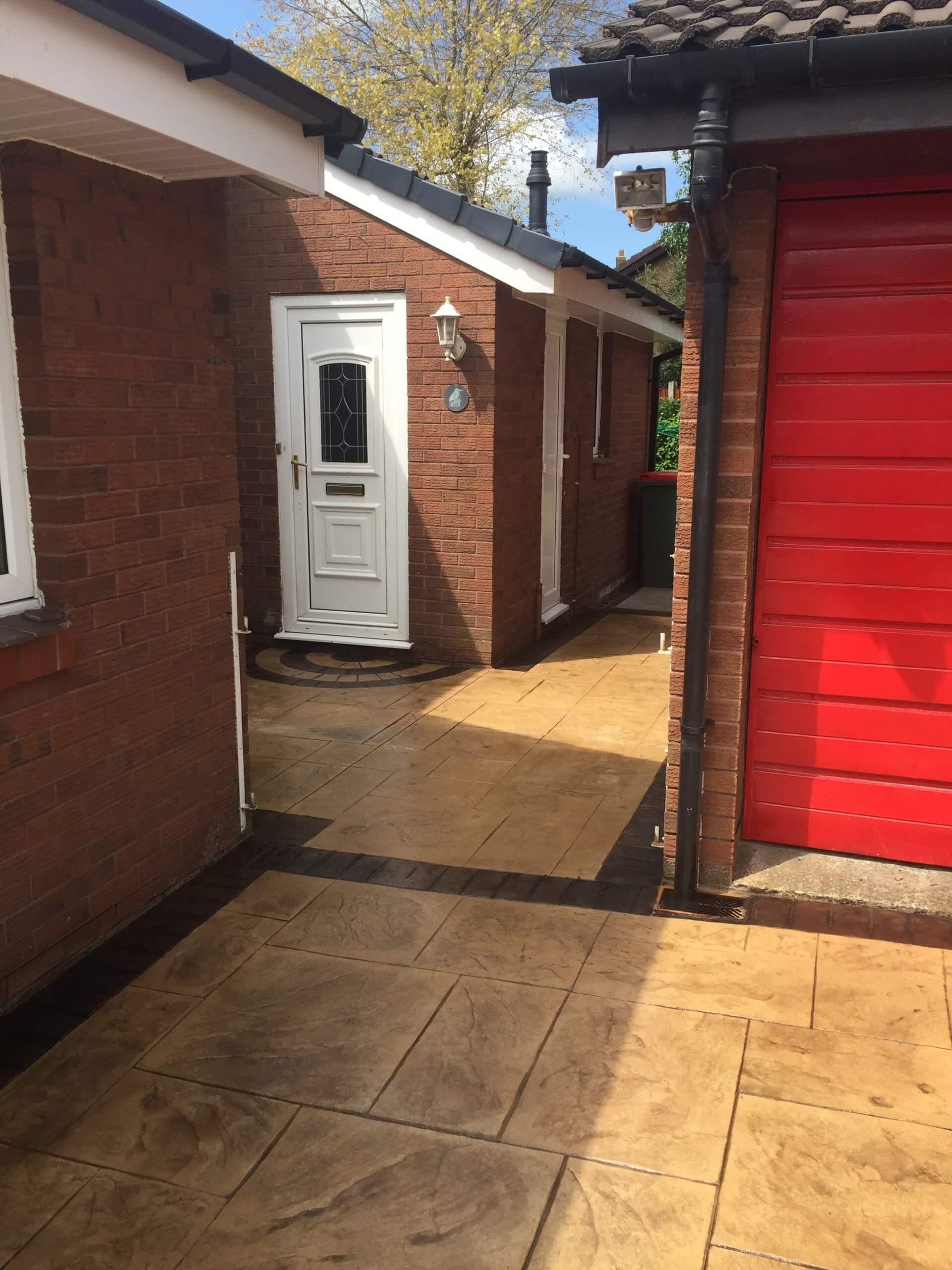 alley door for pattern imprinted concrete lancashire