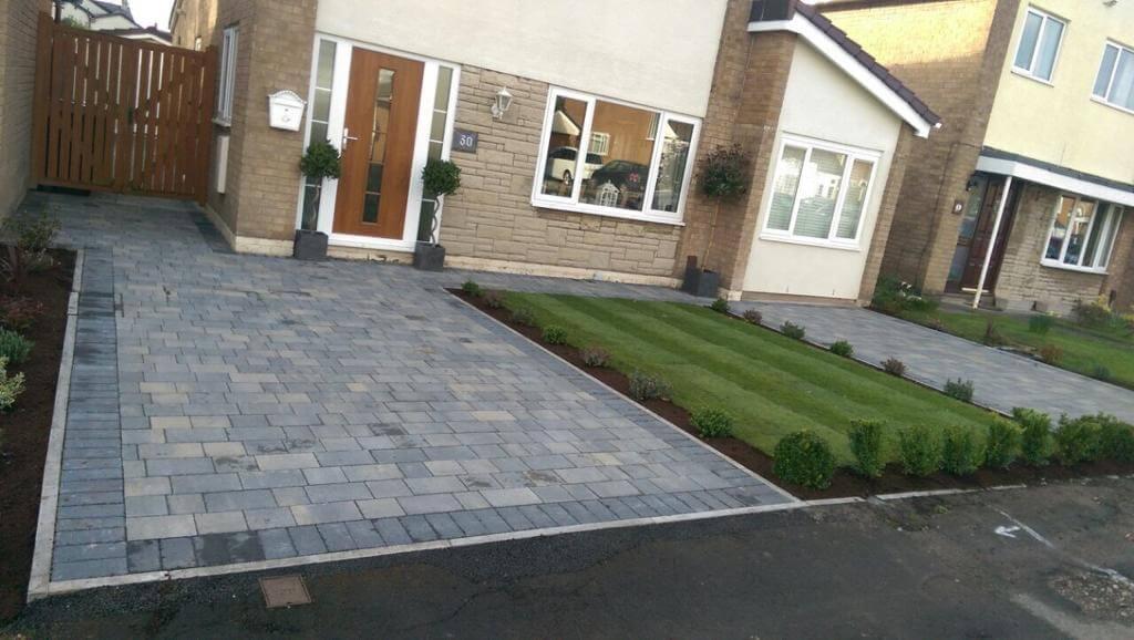Pennant Grey Block Paving Driveway in Morecambe, Lancashire