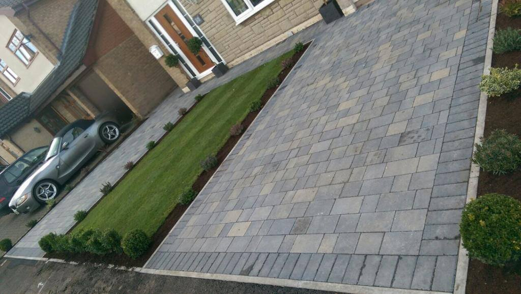Double Pennant Grey Block Paving Driveway in Morecambe, Lancashire