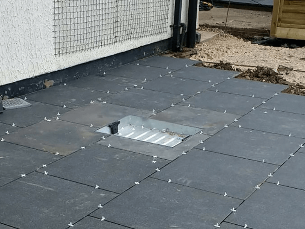 process of porcelain patio in preston, grey patio, lancashire