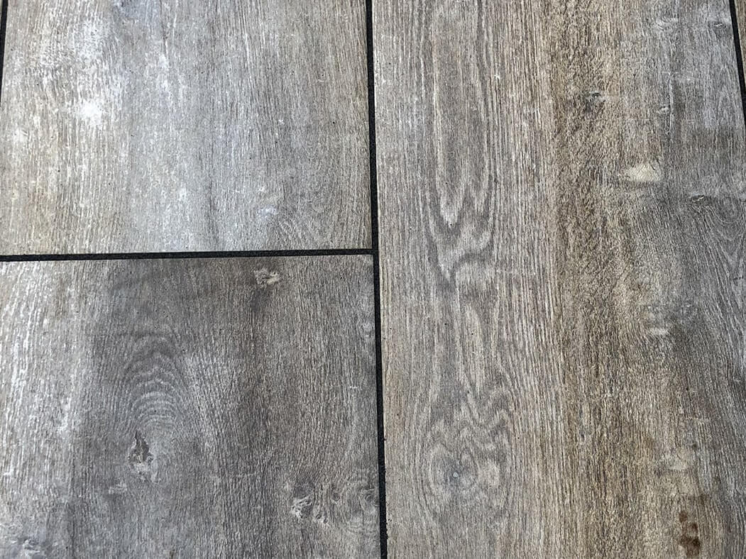 close up of the wood effect on porcelain patio in morecambe