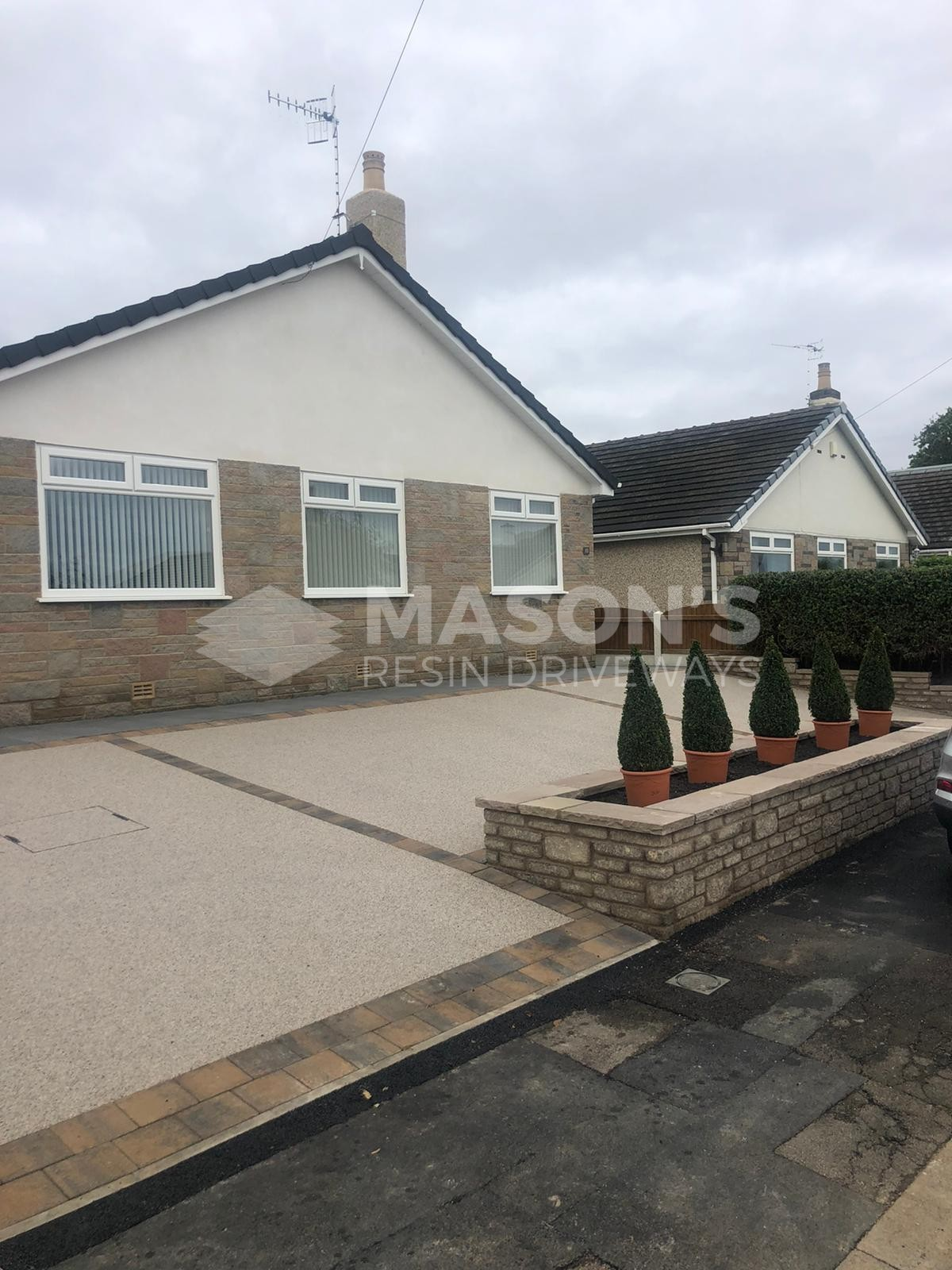 House and Resin Bound Driveway pearl quartz in Morecambe, Lancashire