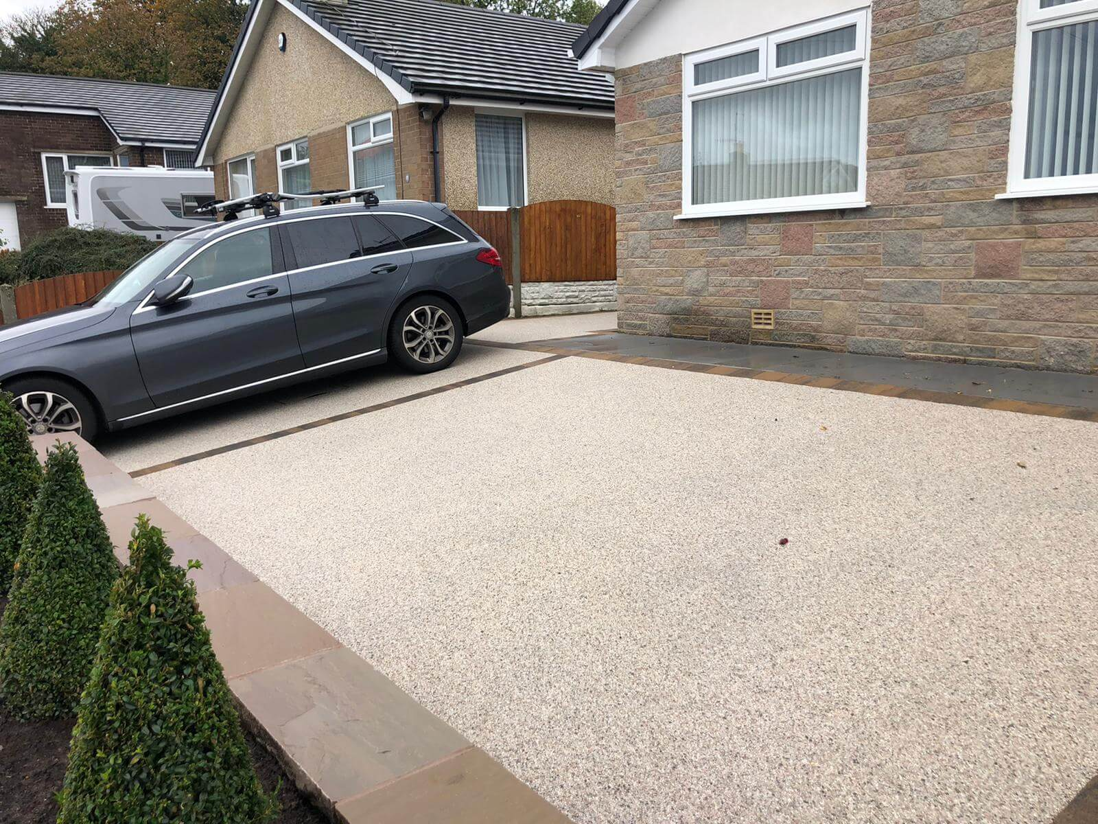 Another view of car on Resin Bound Driveway in Morecambe, Lancashire