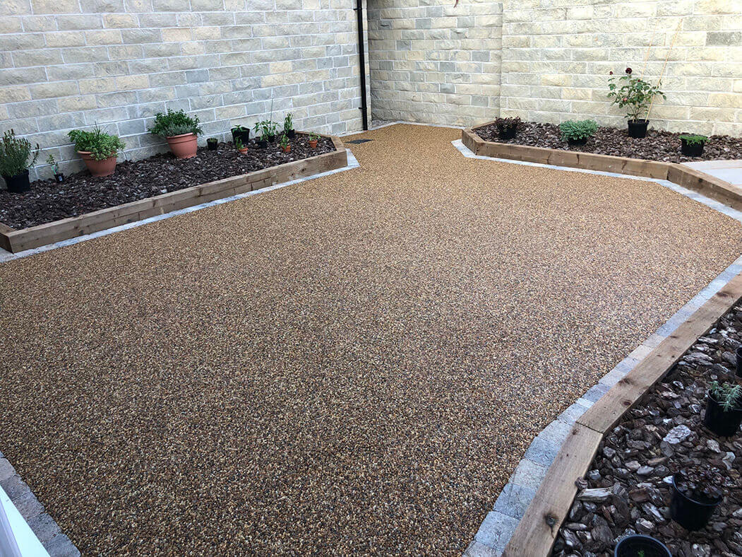 Resin patio area and landscaping Lancaster, Morecambe.