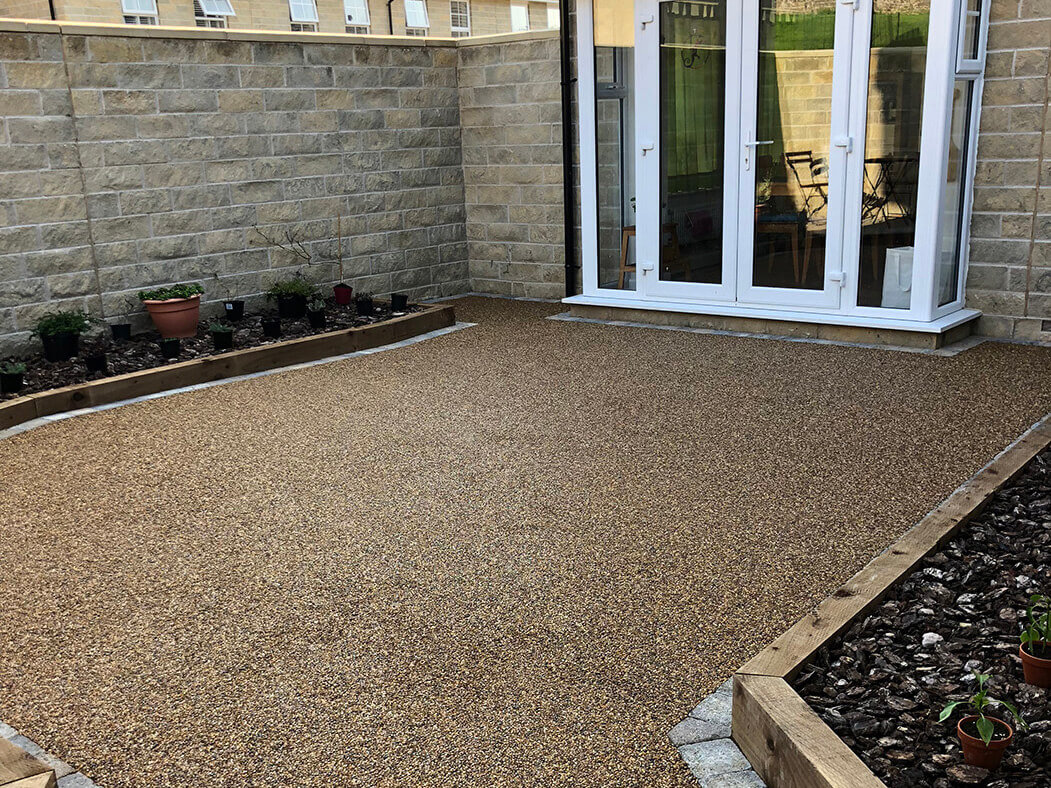 Finished resin patio area in Morecambe.