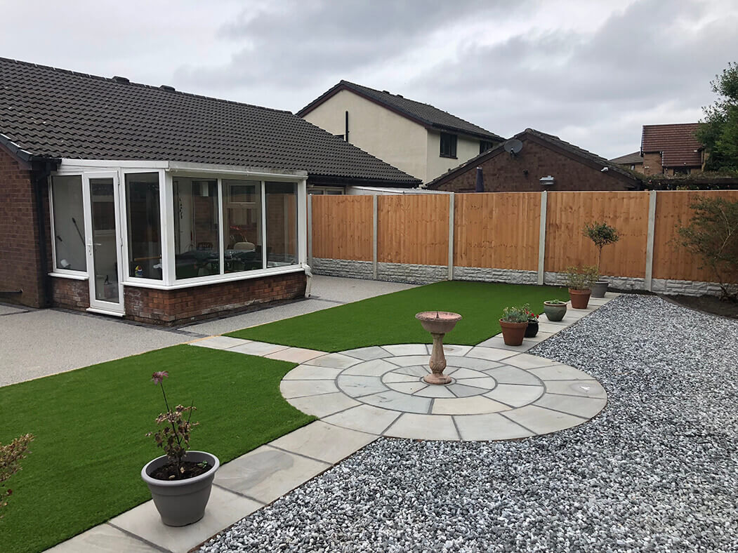 resin driveway and landscaping job morecambe