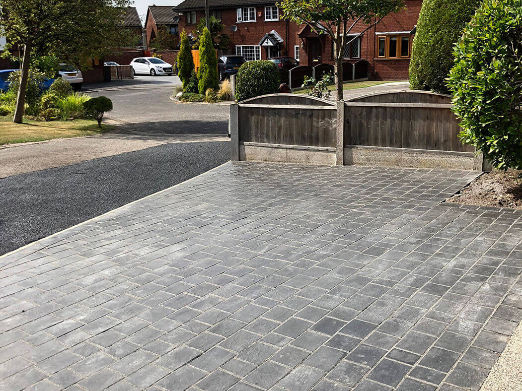 another angle of resin driveway in morecambe
