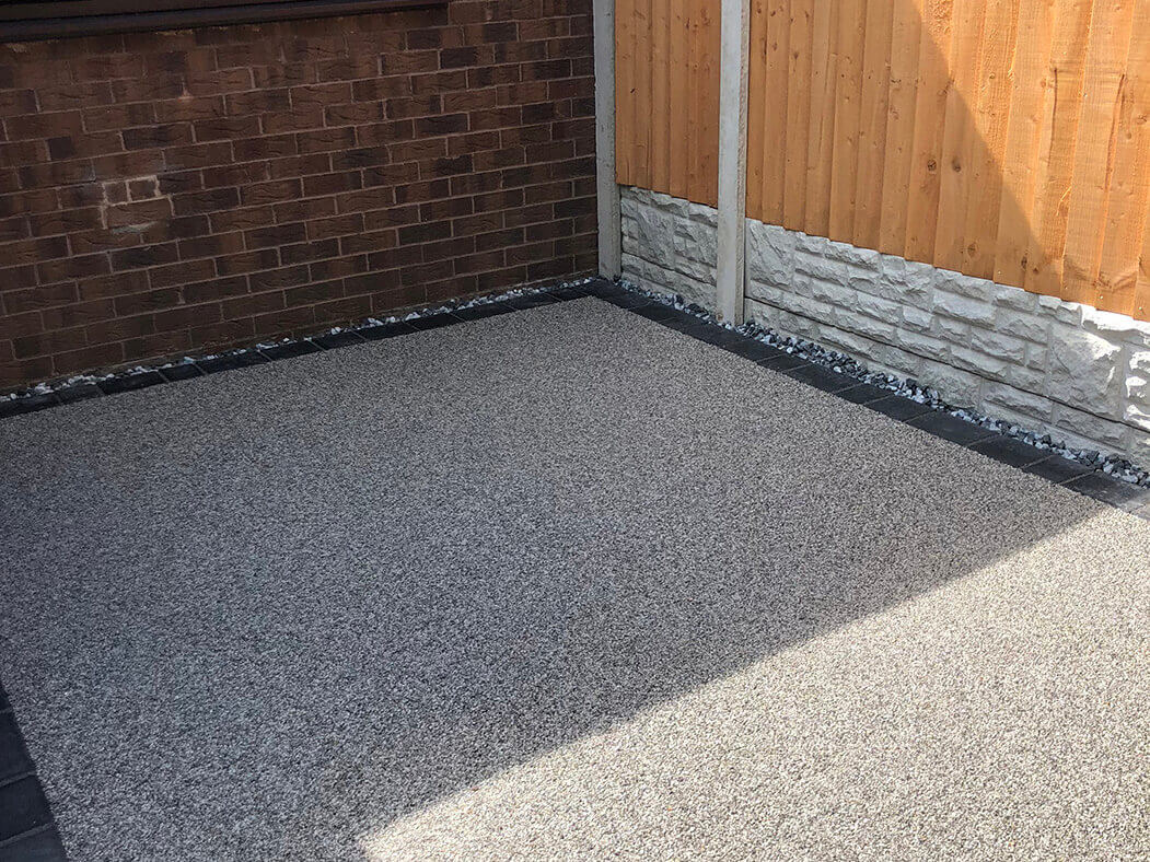 close up of resin in a landscaping and driveway job in morecambe