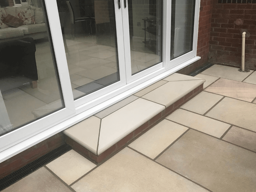 indian sandstone step patio lancaster