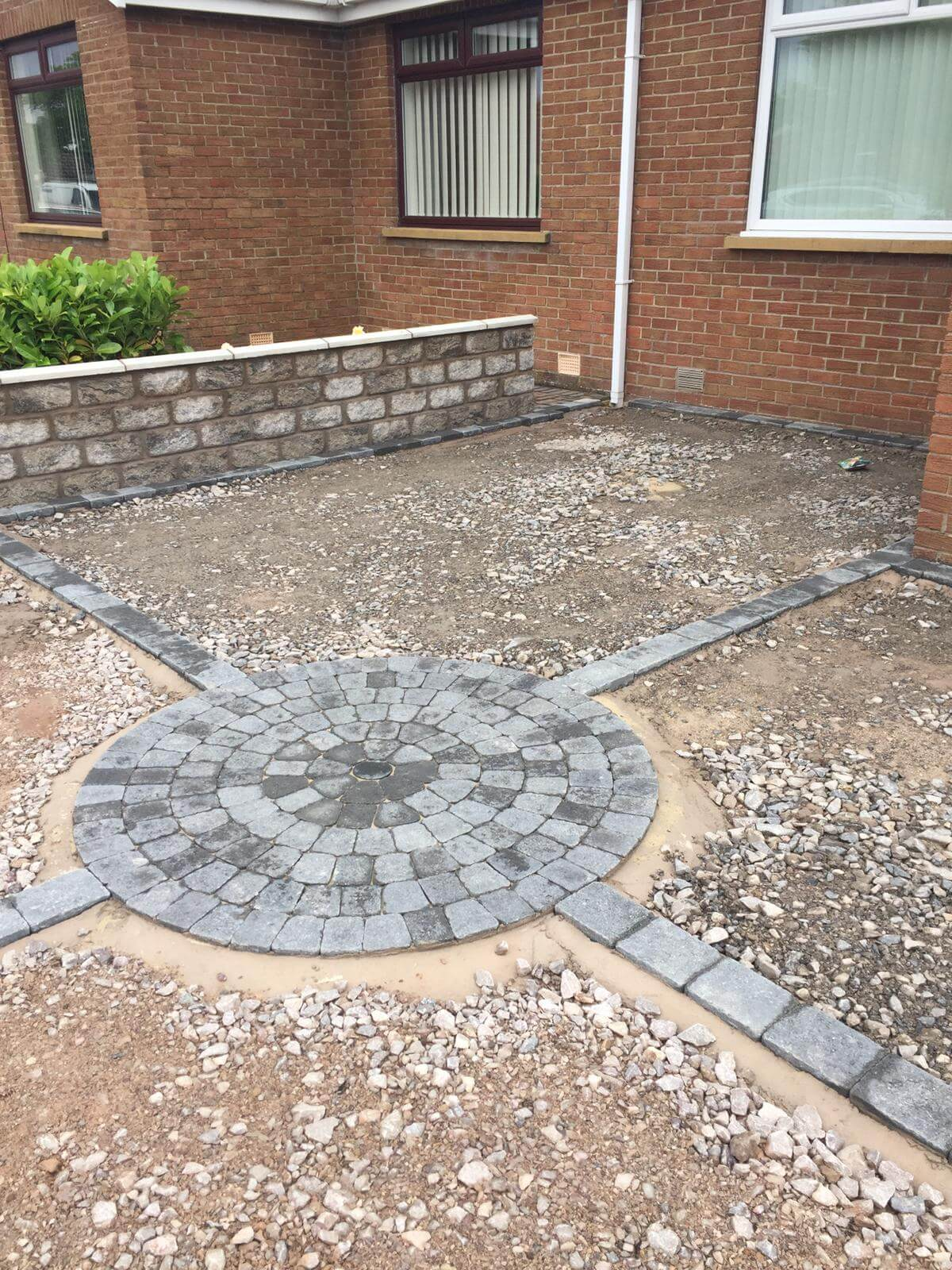 Before picture of Silver Quartz Resin Driveway in Lancaster, Lancashire