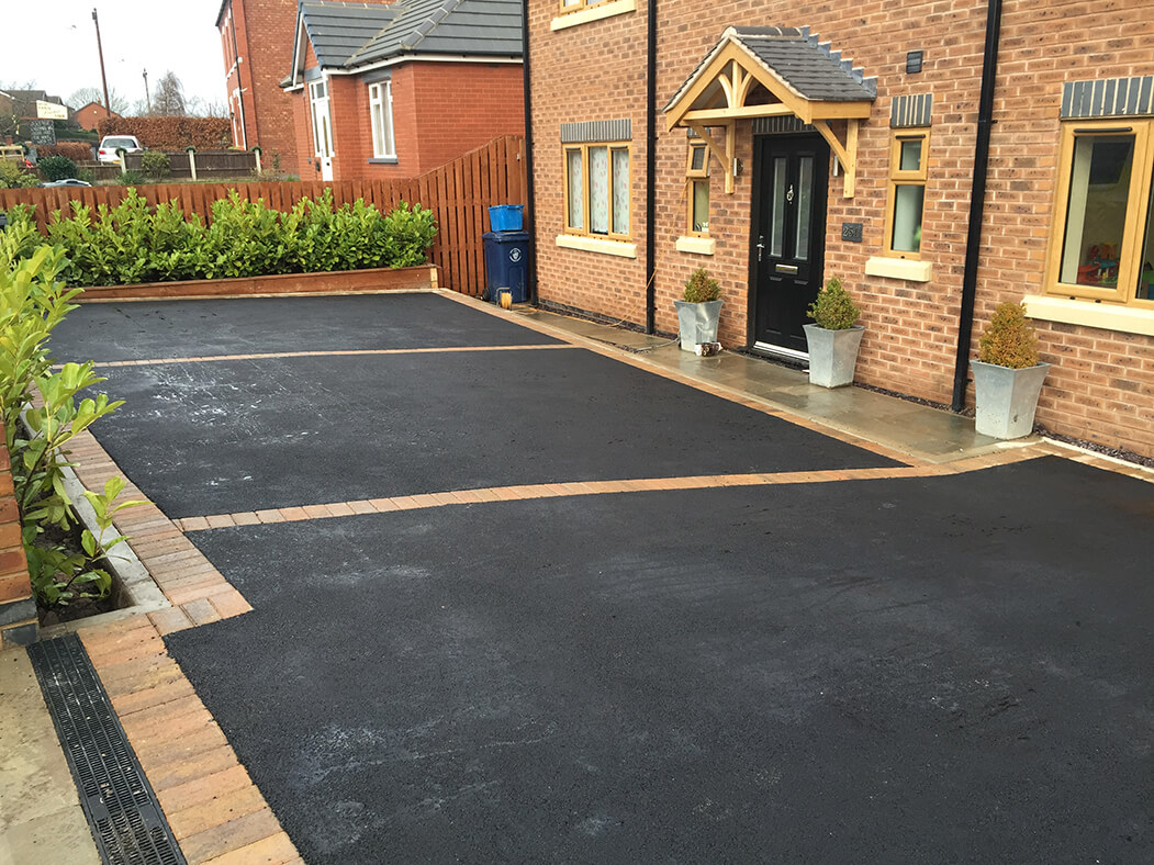 Wide view of Tarmac Driveway Framed in Lancaster