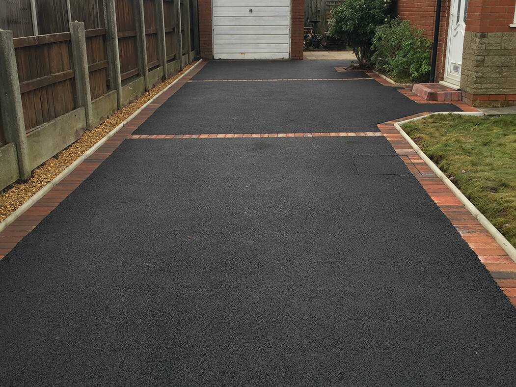 Tarmac Driveway Framed in Morecambe