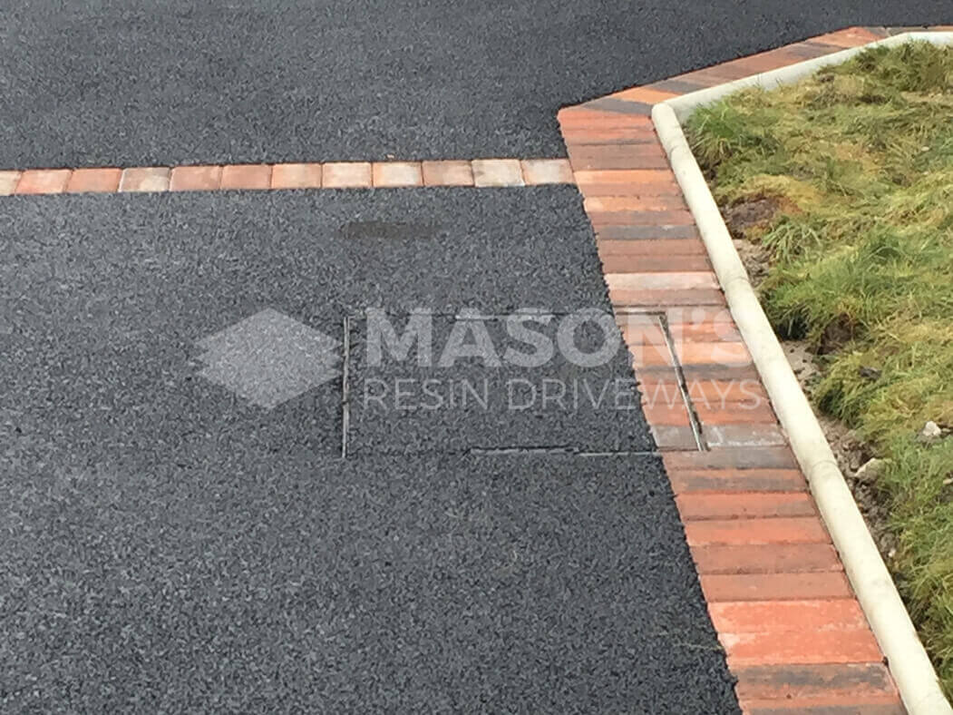 Close up of Framed Tarmac Driveway in Morecambe