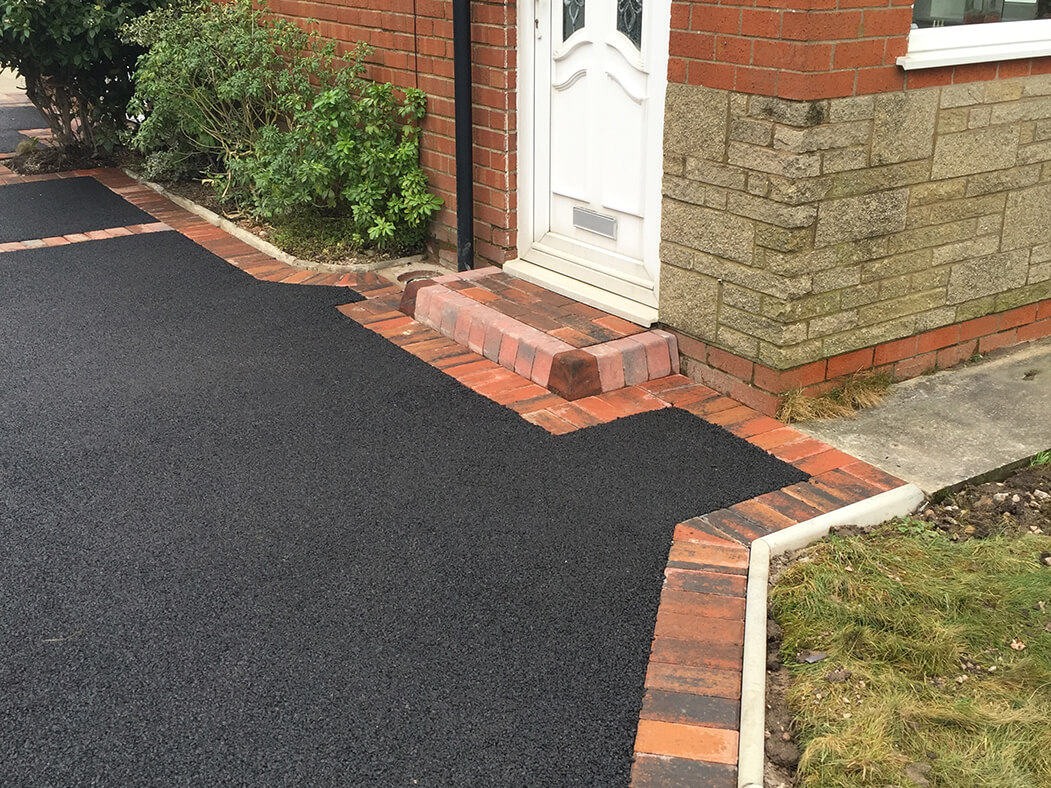 Front door step of Tarmac Framed Driveway in Morecambe