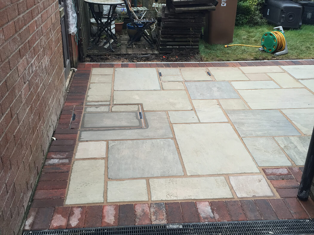 Block paving of Tarmac Driveway Framed in Morecambe