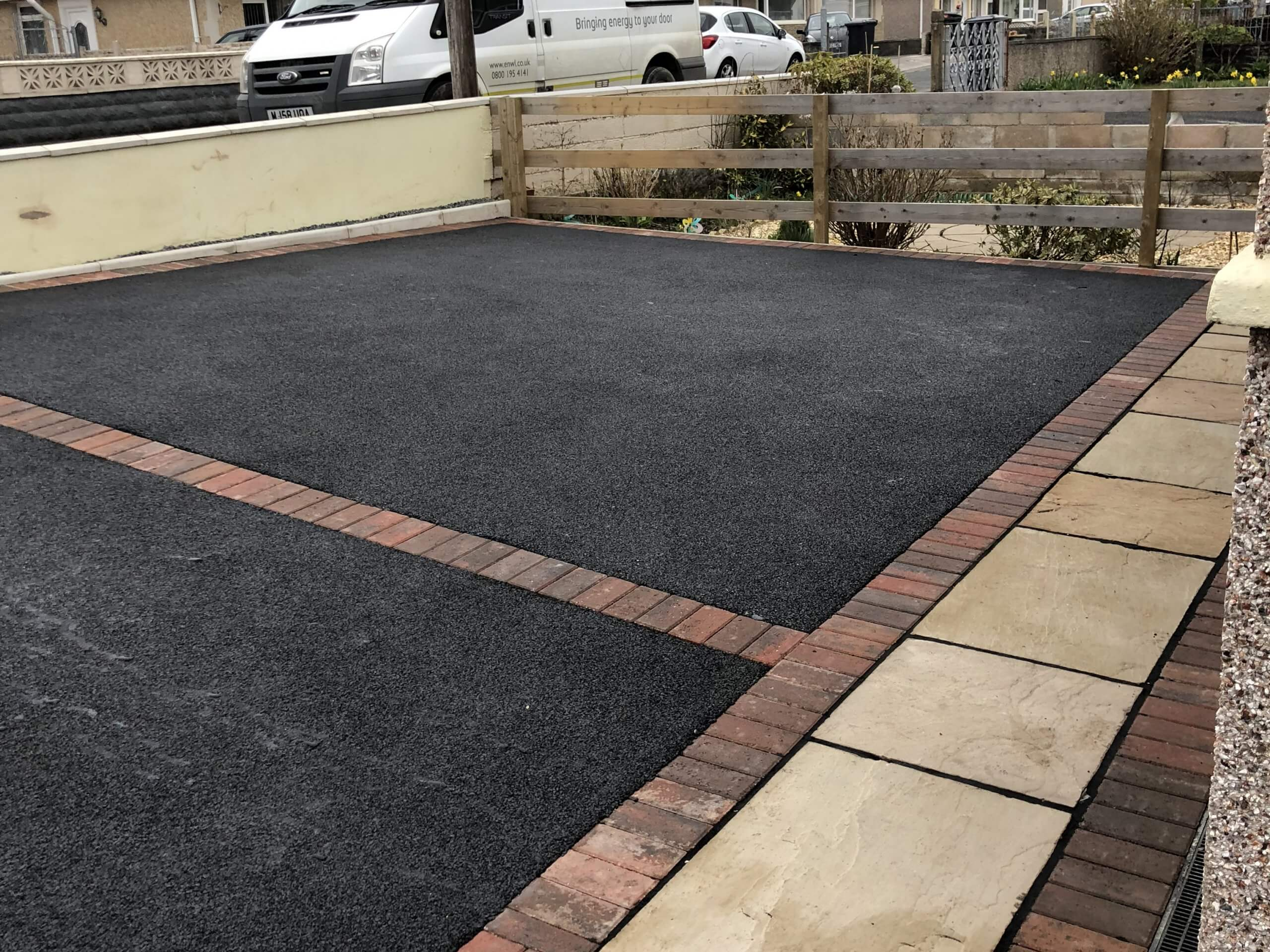 Indian Sandstone and Tarmac Driveway together in Lancaster, Lancashire