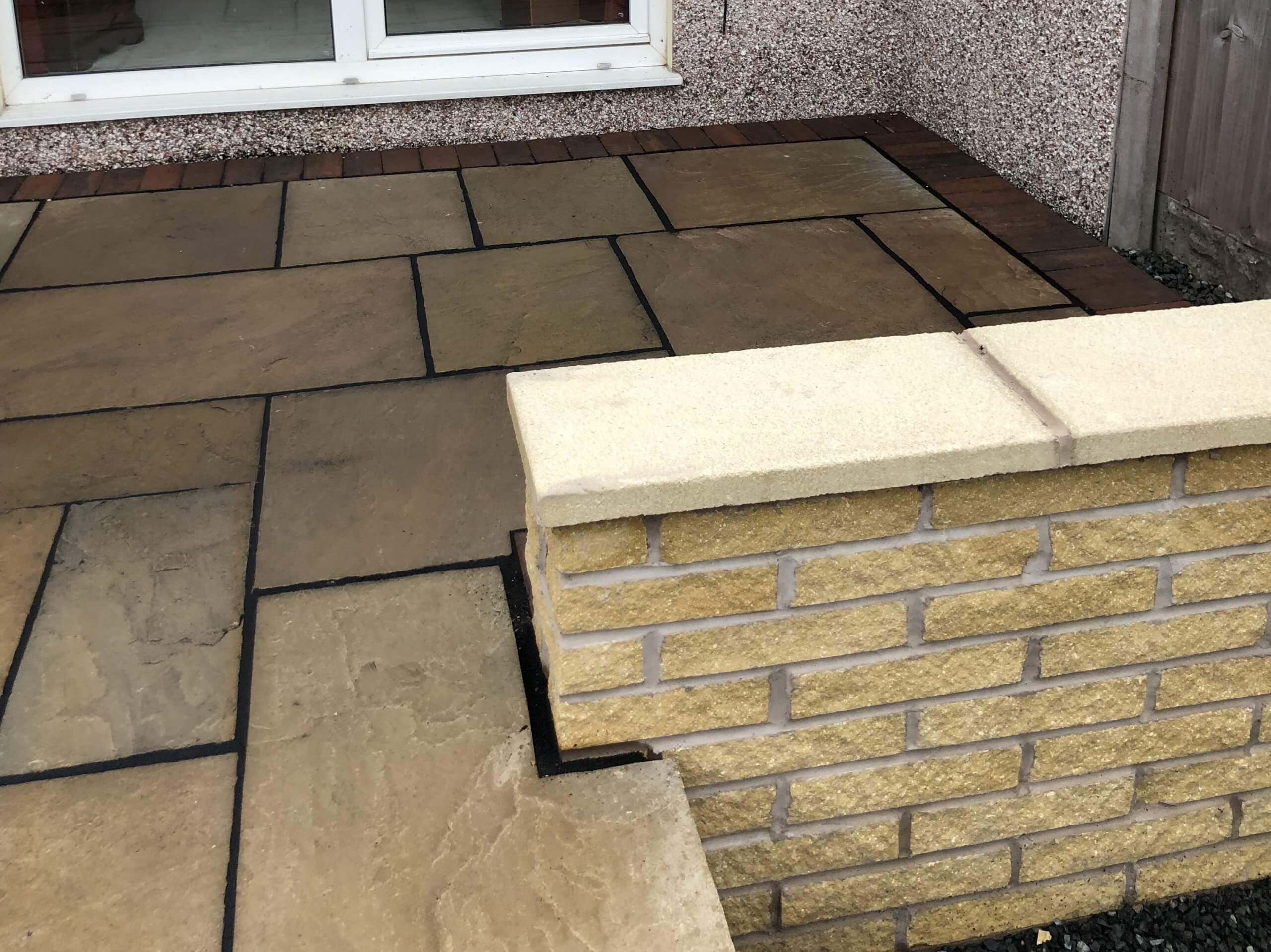 Indian Sandstone Tarmac Driveway Side Close-Up in Lancaster, Lancashire