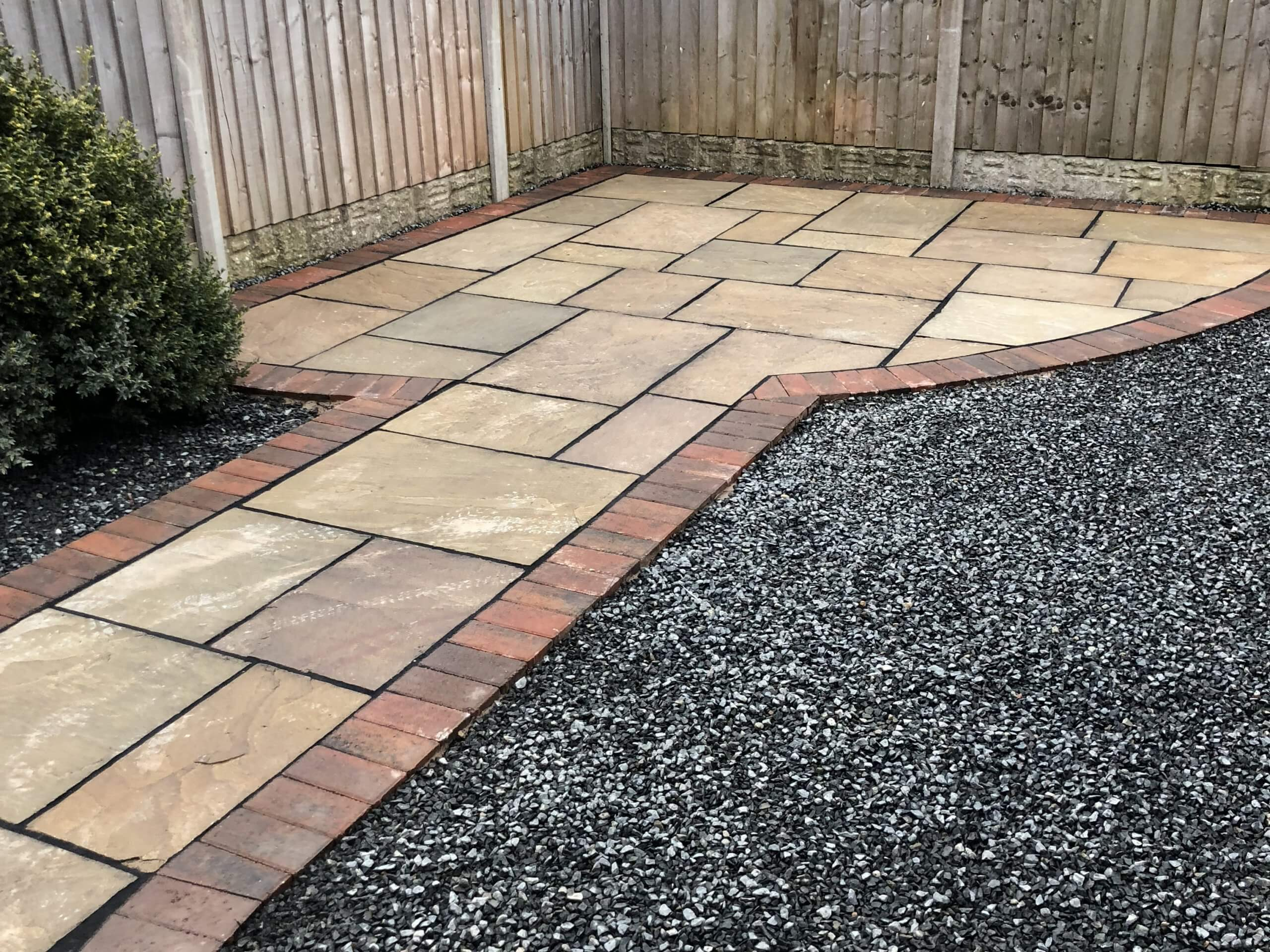 Indian Sandstone view of Tarmac Driveway in Lancaster, Lancashire