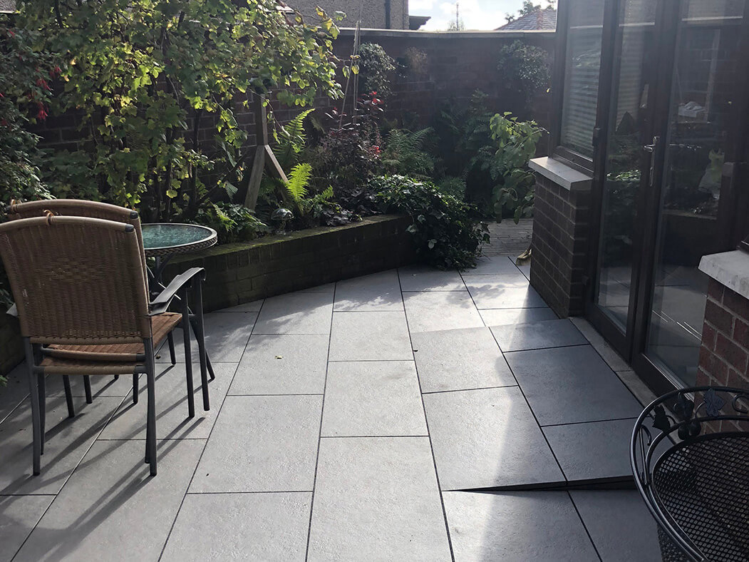 trento black porcelain patio in lancaster