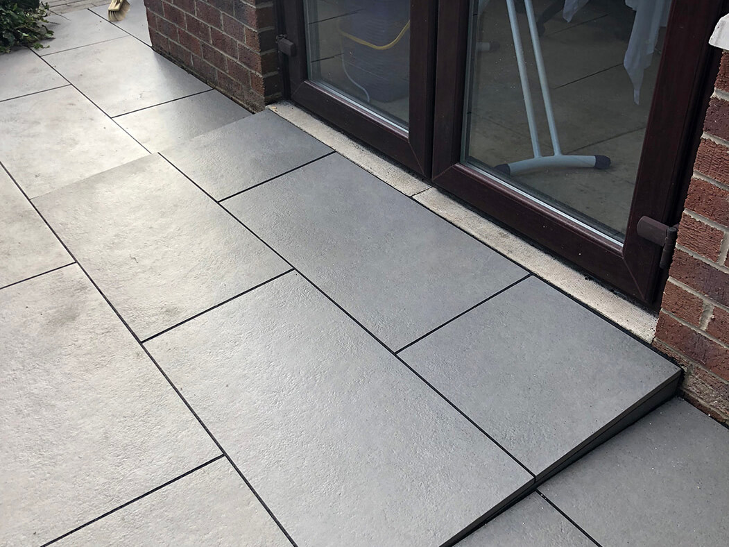 step of trento black porcelain patio in lancaster