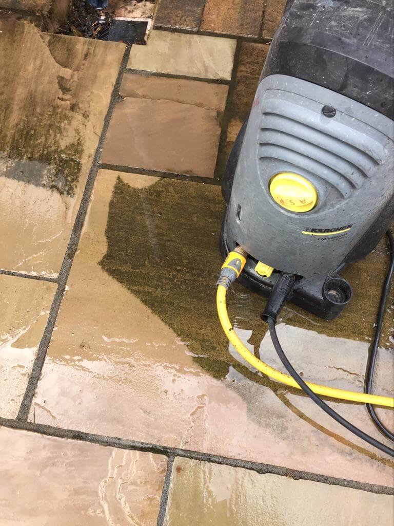 power washing paving in garden morecambe