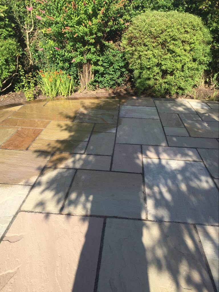 clean power washing driveway in morecambe