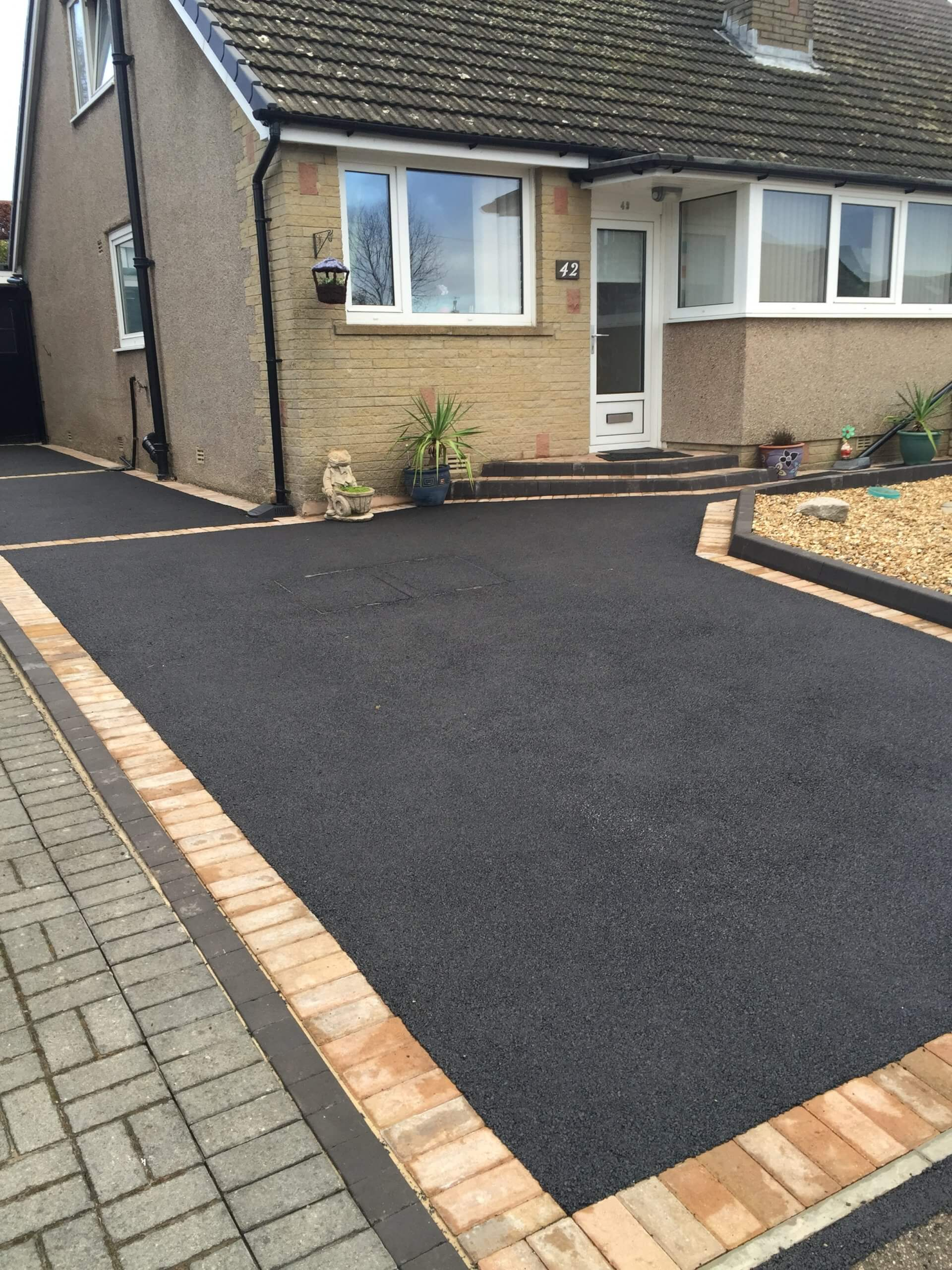 Tarmac Driveway in Lancaster with Block Paving Picture Frame Effect