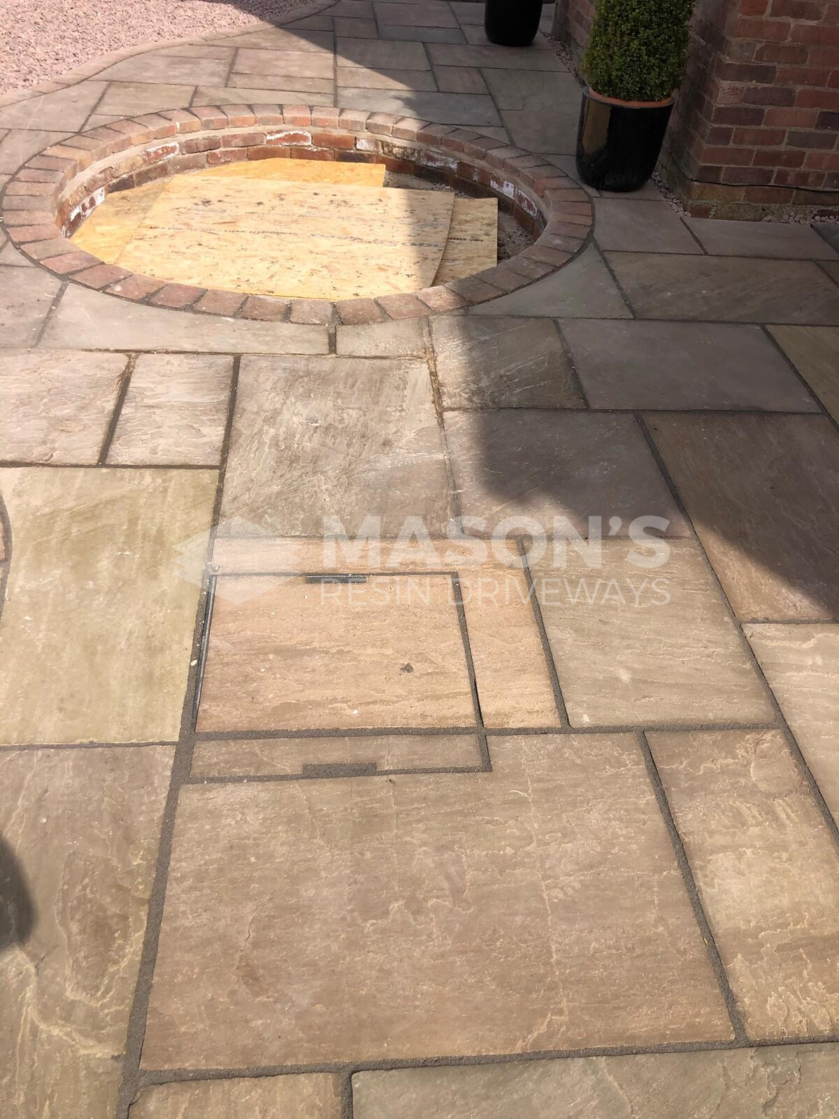 close up of indian stone patio